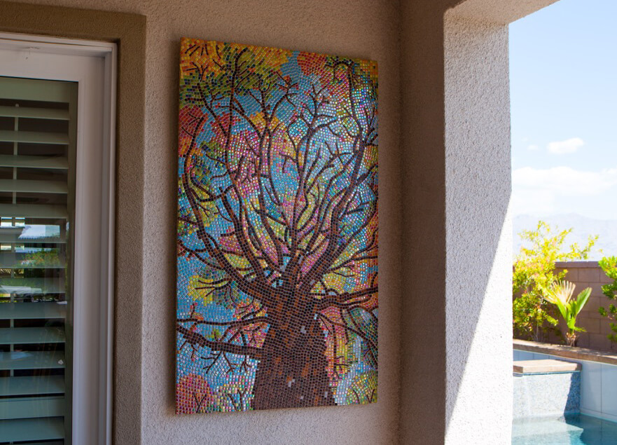 Tree Mosaic Art Robert Friedlander Installed