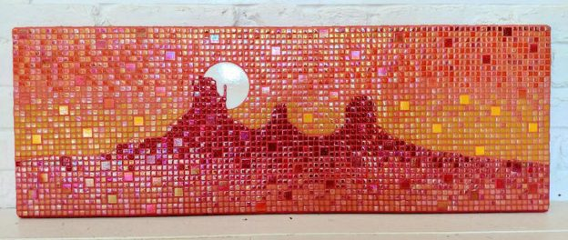 Sunset Mosaic Landscape by Apryl Howard.