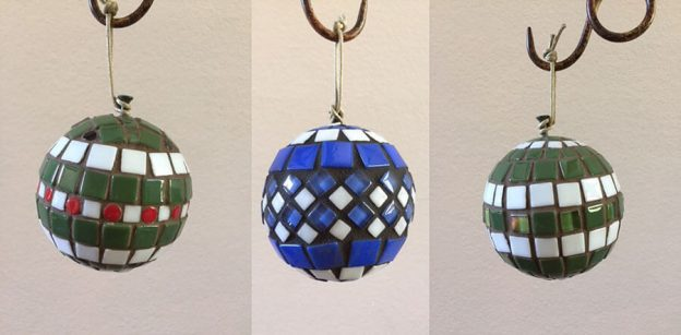 Mosaic Christmas Ornaments by Phyllis Kempter