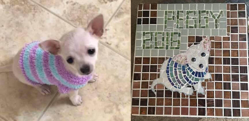 Pet Memorial Mosaic Peggy