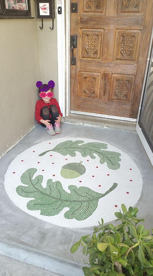 Entranceway Floor Mosaic with doodlebug