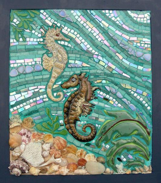 Seahorse Mosaic Laurie Gilson