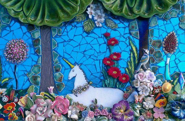 Unicorn Mosaic Laurie Gilson Detail