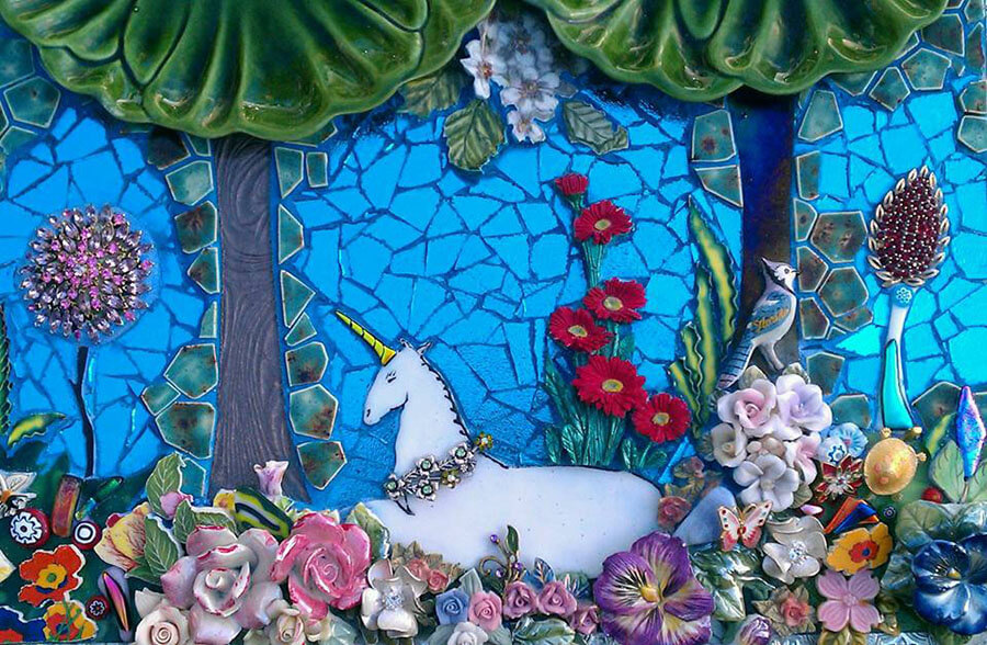 Using Ceramic Figurines In Mosaic Art How To Mosaic