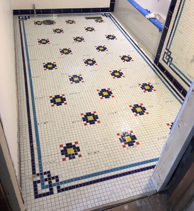 Rebecca Stoops Bathroom Floor Mosaic