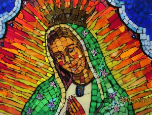 Madre de Guadalupe Contemporary Mosaic