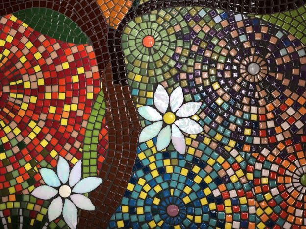 Kitchen Backsplash Mosaic Detail