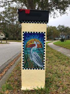 Mosaic Mailbox by artist Linda Robertson