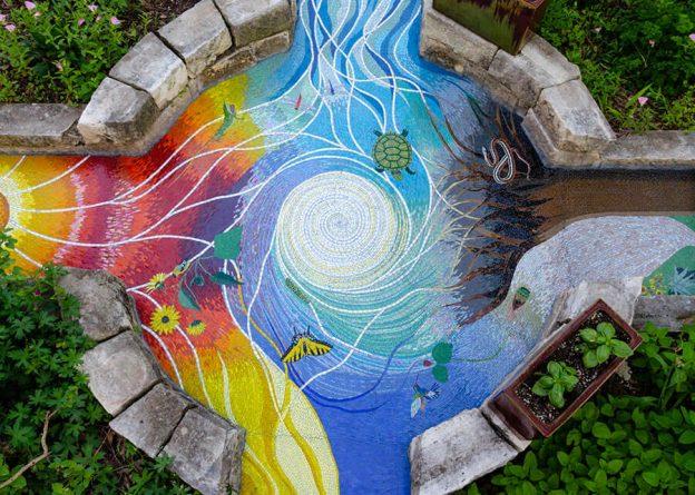 Four Elements Art : Four elements garden mosaic how to