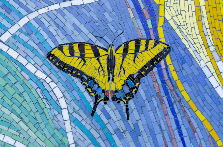 Mosaic Swallowtail Butterfly