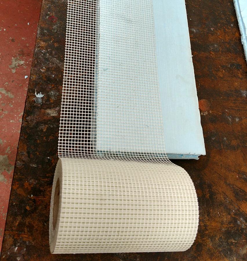 Fiberglass Mesh on Polystyrene Foam