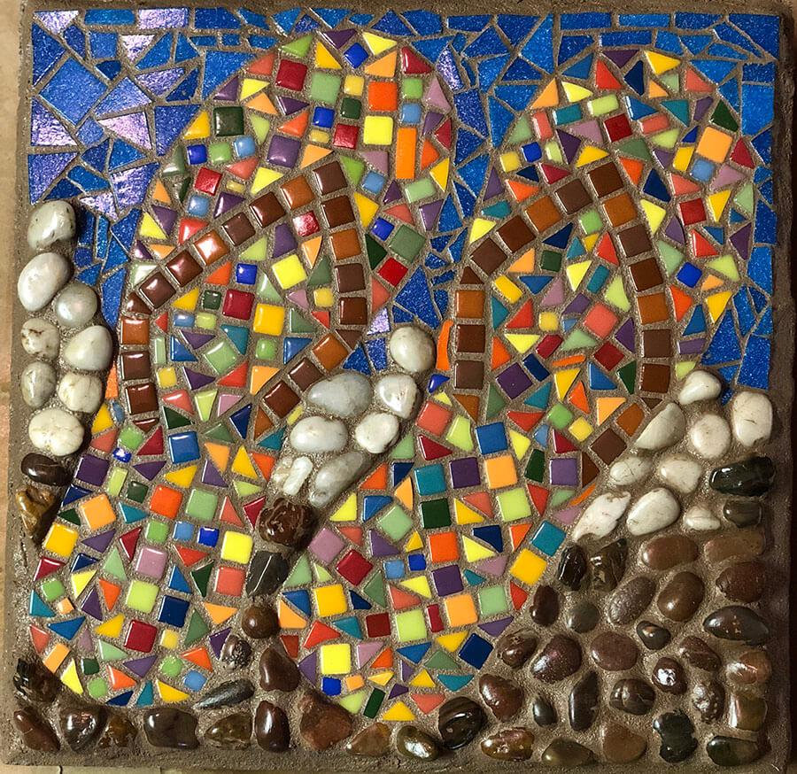 Mosaic Flip Flops
