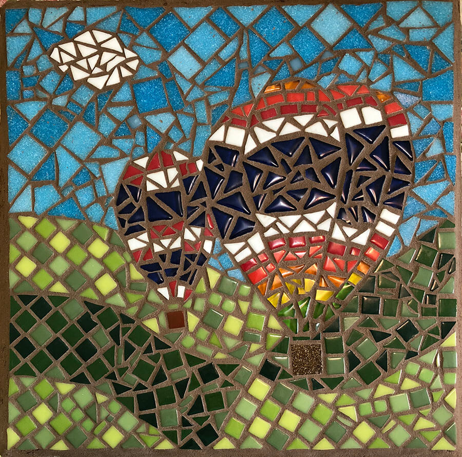 Mosaic Hot Air Balloons by Debbie Watson.