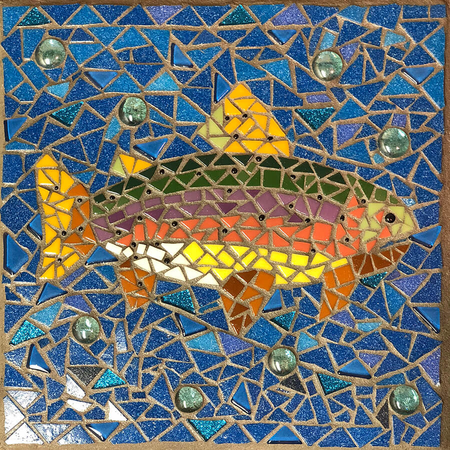Mosaic Fish by Debbie Watson