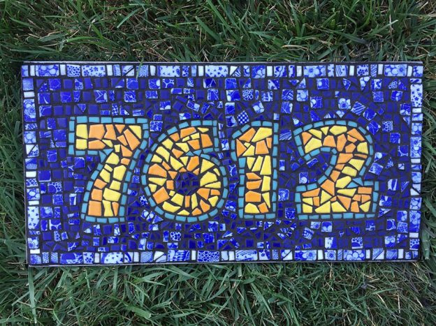 Mosaic Street Number Plaque