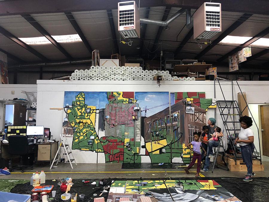 Live the Legacy II Mural work in progress 2.