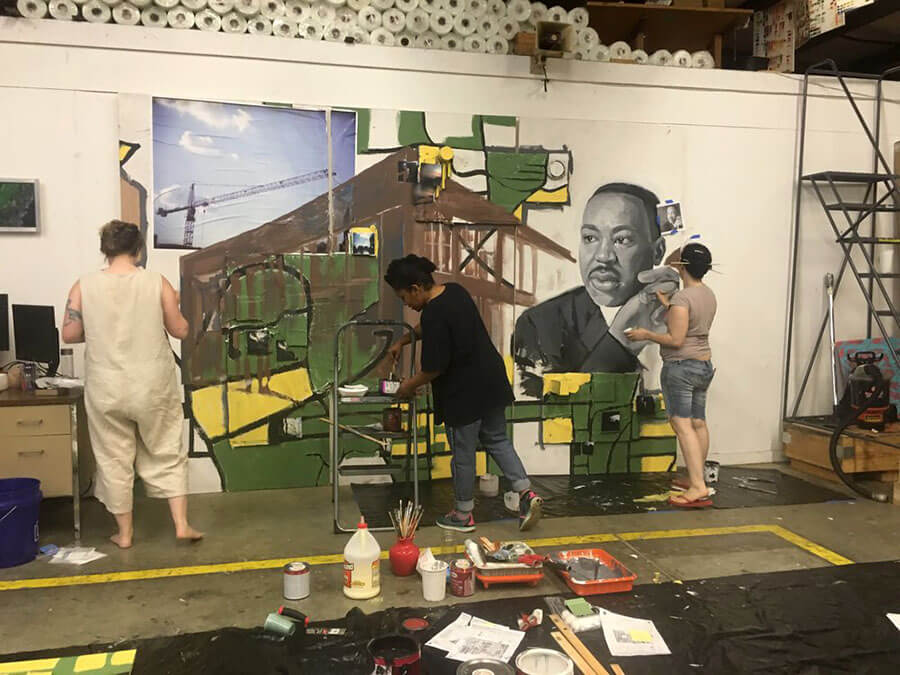 Live the Legacy II Mural work in progress 4.
