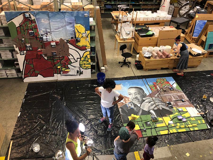 Live the Legacy II Mural work in progress.