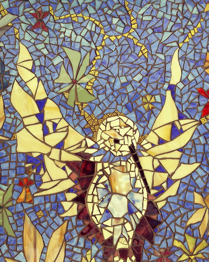 Mosaic Hummingbird detail 1
