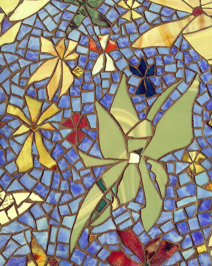 Mosaic Hummingbird detail 2