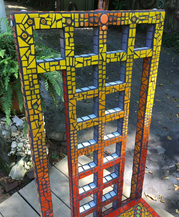 Mosaic Chair by Janie Wright, back detail