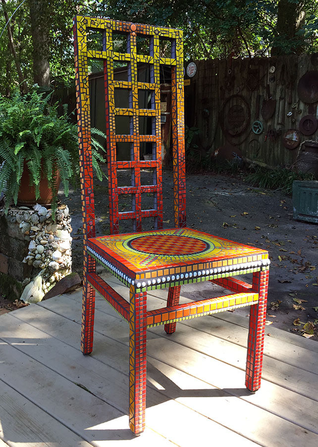 Mosaic Chair by Janie Wright