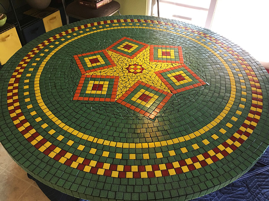 Mosaic Dining-Room Table by artist RJ Spurr.