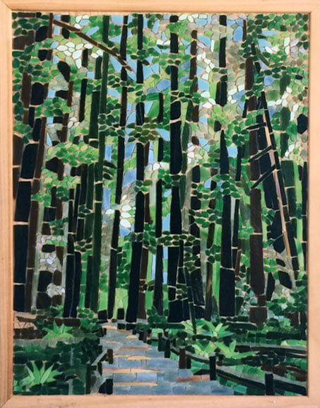 Mosaic Redwoods by Tracy Kaplan Pre-grout.