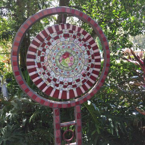 Mosaic Gong Sculpture