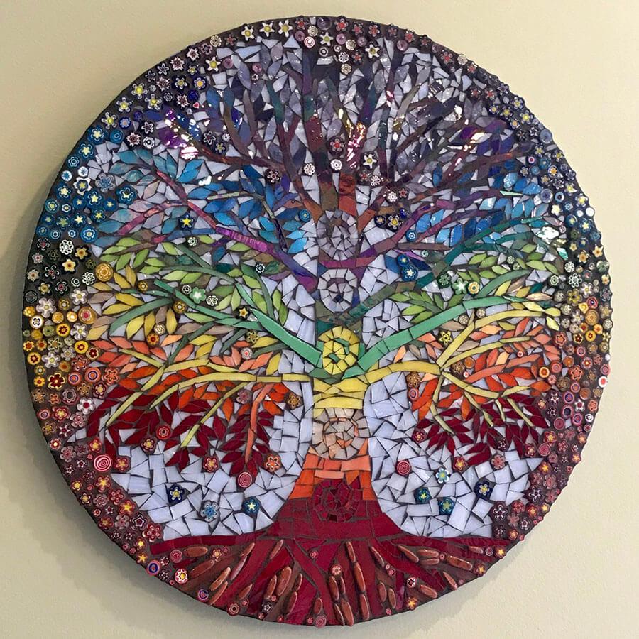 Chakra Tree Of Life Mosaic Design Study How To Mosaic