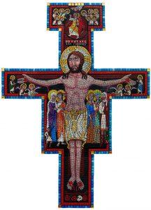 San Damiano Crucifix Mosaic by artist Kevin Pawlowski.
