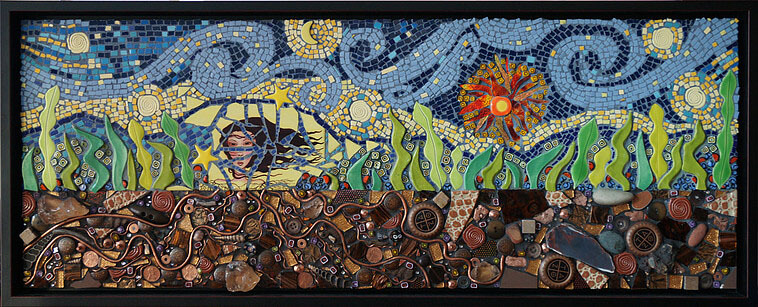 Mosaic I Am Down to Earth by Janet Sacks