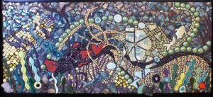 Mosaic Lady of Grand Lake II lower dyptych by Janet Sacks