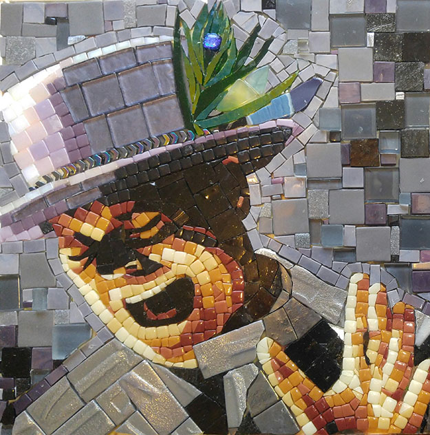 Courage Mosaic Portrait ofGord Downie by artist Suzanne Coverett Earls.