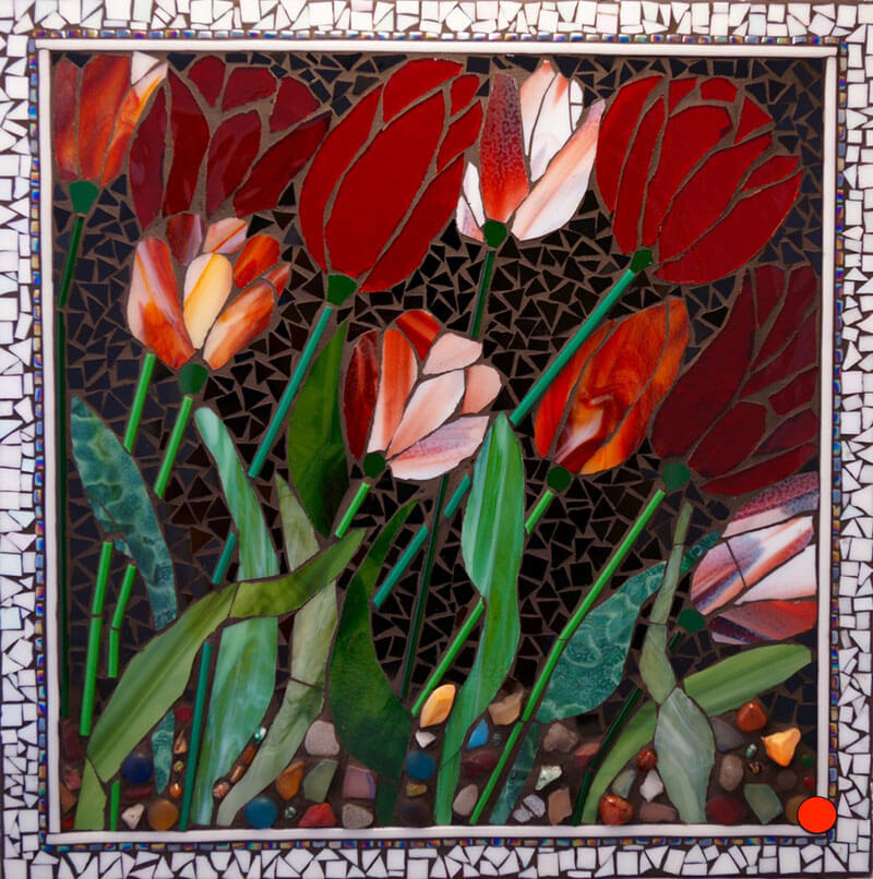 Mosaic Red Booms by Janet Sacks