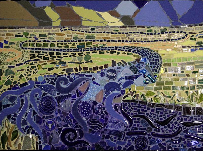 Mosaic River Thru Grasslands by Janet Sacks