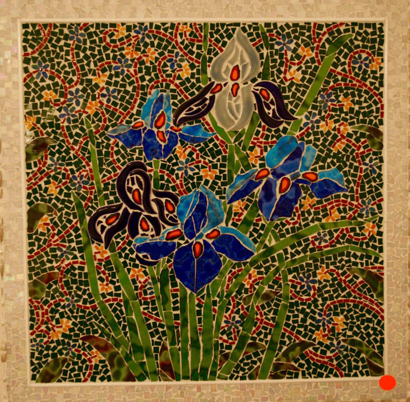 Mosaic Spring Irises by Janet Sacks