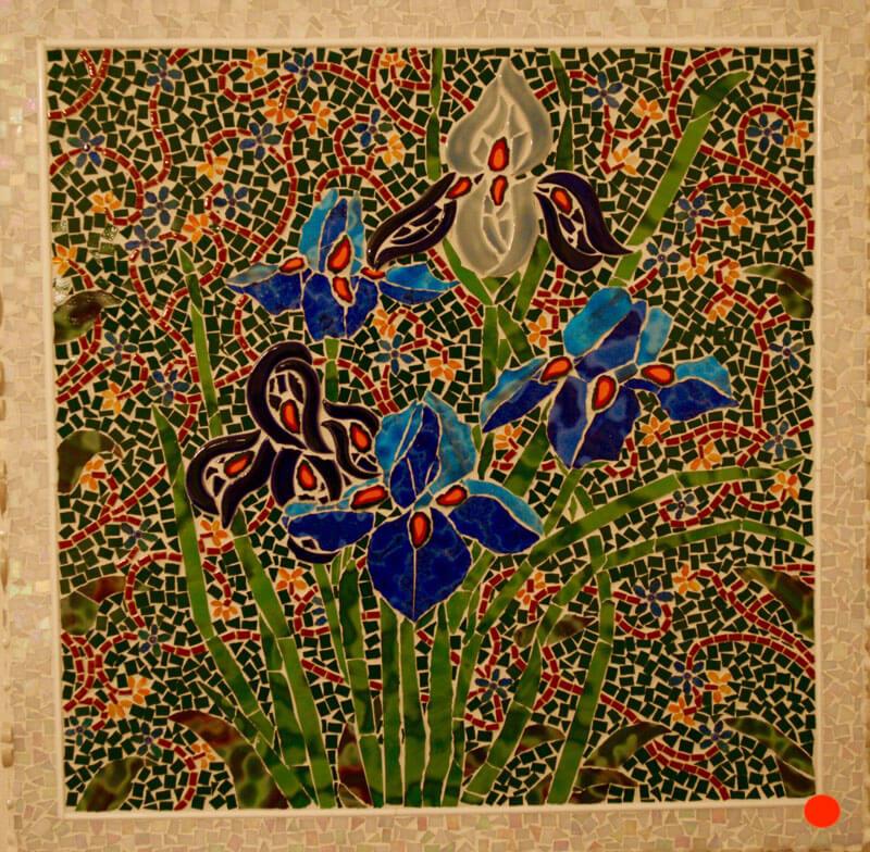 Mosaic Spring Irises by Janet Sacks