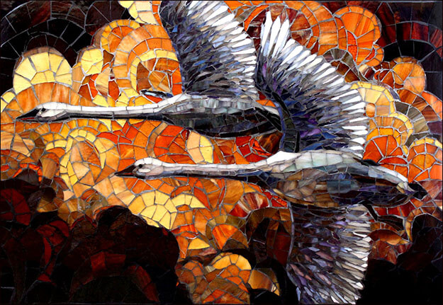 For Life mosaic by artists Sandra and Carl Bryant.