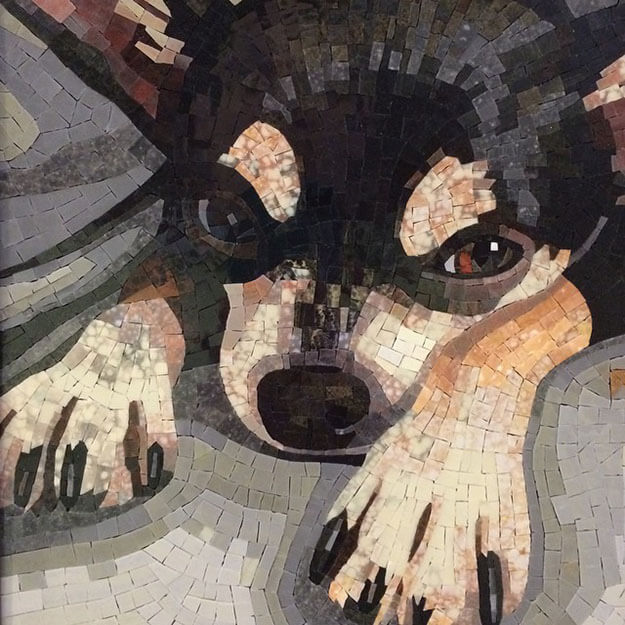 Mosaic Pet Portrait Mr. Rico