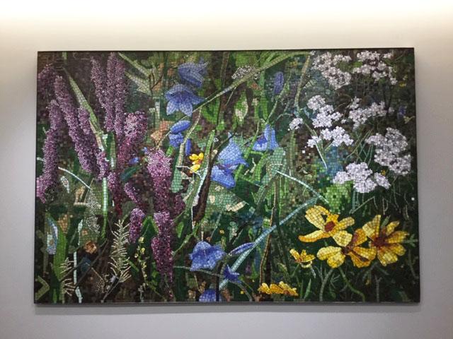 Prairie I (Bluebell) Mosaic, 6 ft x 9 ft