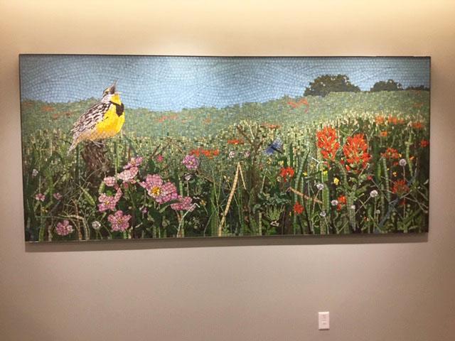 Prairie III (Meadowlark) Mosaic, 4 ft x 9 ft