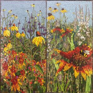 Prairie Diptych Mosaic, 4 ft x 2 ft