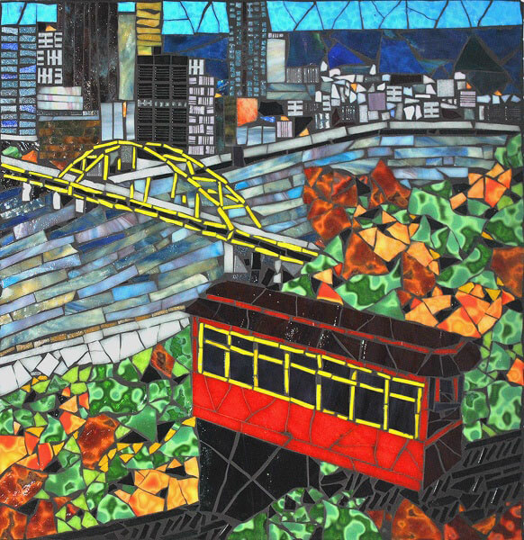 Mosaic Cityscape Pittsburgh Incline