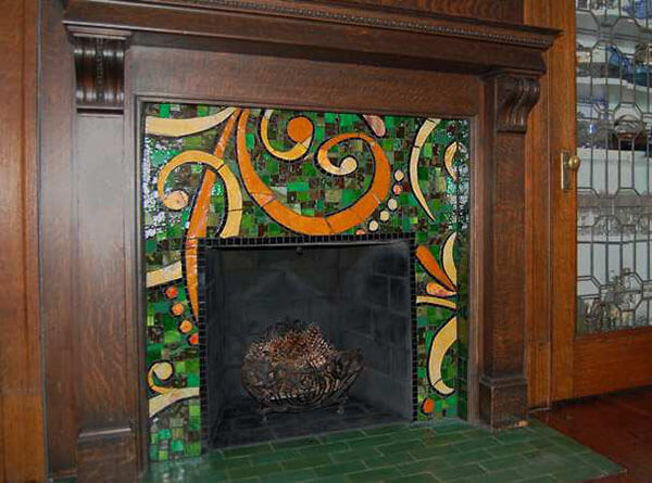 Mosaic Fireplace Surround Hearth B