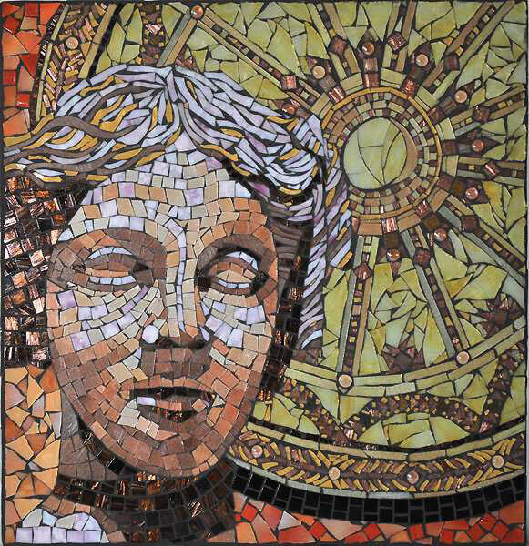 Mosaic Goddess Athena