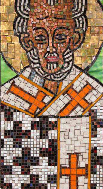 Mosaic Icon Saint Nick