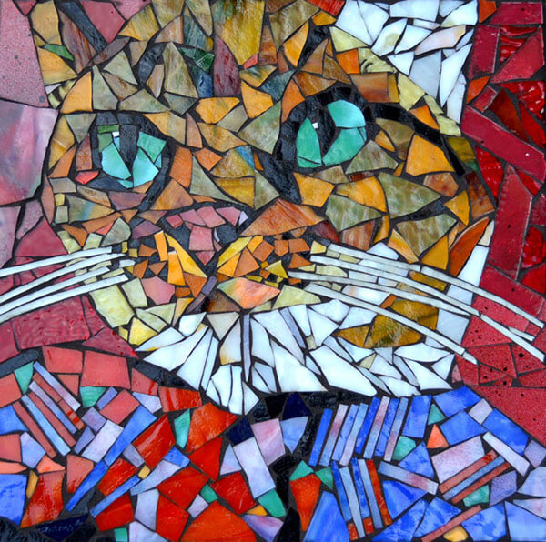 Mosaic Pet Portrait Cat