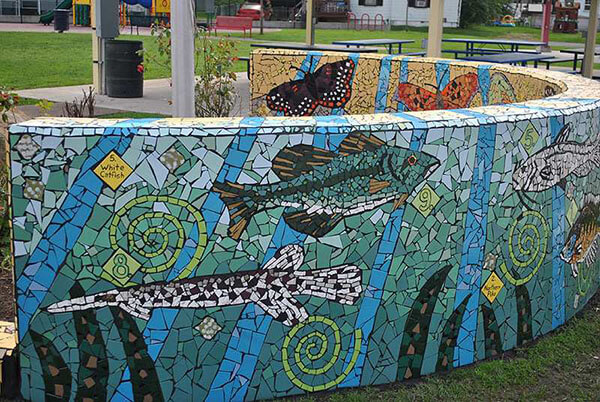 Mosaic Public Art Matrona Detail