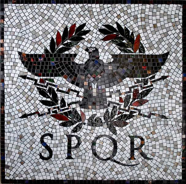 Mosaic Sign SPQR Roma